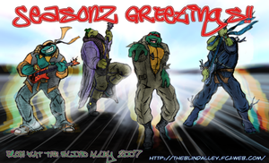 2007 Seasons Greetings TMNT by theblindalley
