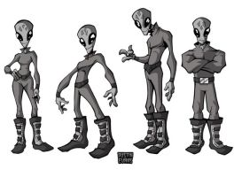Alien Character Designs by DustinEvans