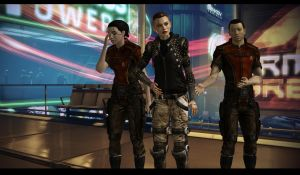 Mass Effect Jack and students Shopping by Cor-Angars