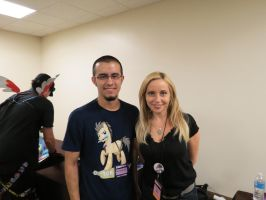 me and Tara Strong by EROCKERTORRES