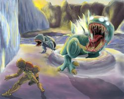 Metroid Bosses: Sheegoth by Cronoan