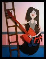 Marceline - Adventure Time Shadowbox by Hatpire
