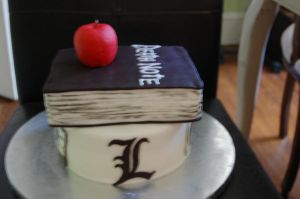 death note L Lawliet cake by sydney96