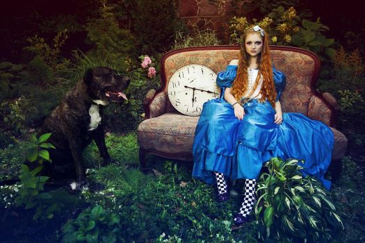 Alice with the dog by Voodica