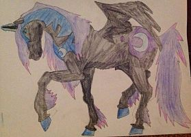 Nightmare Moon ~ Realistic Clydesdale by TealWolfTreasure991