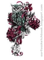Owl Tattoo Design 01 by Sarfo
