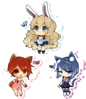 .::Kemonomimi Adoptables (CLOSED)::. by Ayaeru