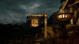 Whiterun Stables - Early Evening RCRN 3.5 by lupusmagus