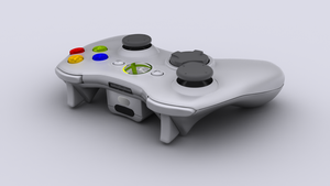 Controller White - Front by RandellTrulson