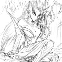 Zyra sketch by TeraMaster