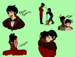 Watership down humans - Blackberry and Campion by lovetea908