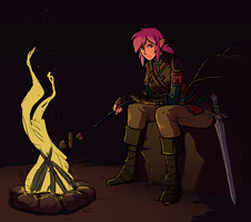 Waiting by the Fire by Brellom