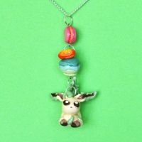 Leafeon Necklace by Loreleiwave