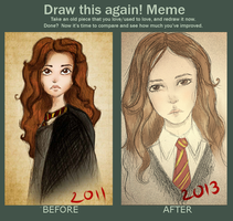 Draw this again! Melancholy of Hermione by Niranis