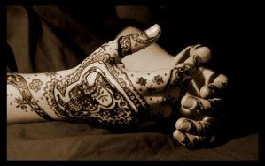 Henna Hands by MonochromeBlues
