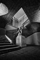 the statue and the stair case by clementedelavega