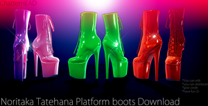 Noritaka Tatehana Platform Heels MMD Download by chatterHEAD