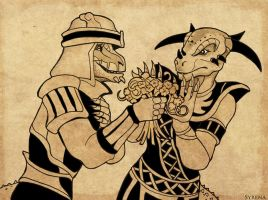 The Argonian Mating Ritual by SlayerSyrena