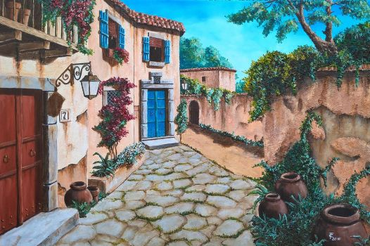 Forgotten Tuscany 2016 - Oil on canvas 60x40 cm by Inspektore