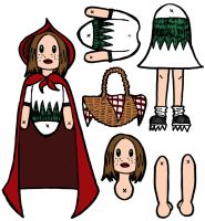 Little Red Riding Hood paper doll parts by nicksedillos