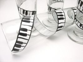 Music Lovers Pilsner Glass Set by MakinTheBestOfIt