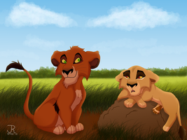Taka and Zira cubs by JR-Style