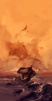Sailing ship by MikaZZZ