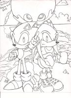sonic quest cover art by SONICJENNY