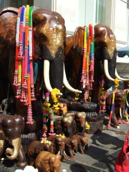 colourful elephants by jaded911