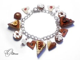 Bracelet 'Chocolate Mood' by OrionaJewelry