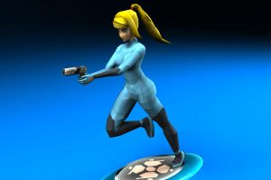 Samus Zero Suit 3D by Dil1880