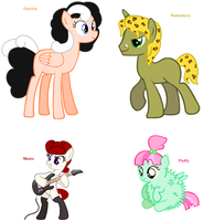 Themed Adoptables 65-68 (CLOSED) by BronyBase