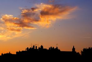 Magic Clouds in the city by Samantha-meglioli