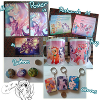 Merch for Galacon by CrispyCh0colate