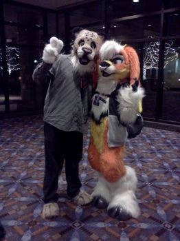 Me and Felony Boat at Midwest Furfest 2012 by Speckled-Paws