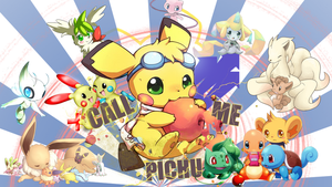 Wallpaper CallMePichu by Strawtwitch