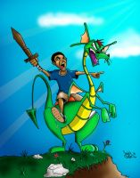 Troy and Steven the Dragon by Sniper-Cheez