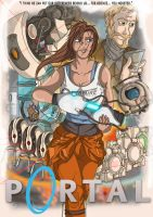 Portal Chell poster by Toonlancer