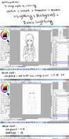 6 Process of coloring, and the brushes by Hews-HacK