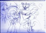 (WIP/Sketch of): Together...At Last!(CosmicShadow) by Jaithedog