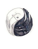 Yin Yang bird tattoo by helpmepleaseplease
