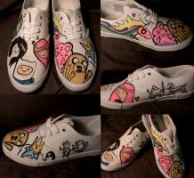 Adventure time custom shoes by LeSaVy