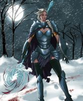 Queen Elsa - Blood and Ice by eHillustrations