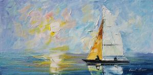 Sea by Leonid Afremov by Leonidafremov