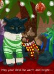 A Blue Kitty Christmas by Kelsee-F