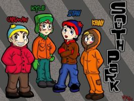 South park - The gang by MagicMikki