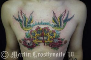 Swallow Knucks Roses Chest by mxw8