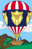 Colonial American Balloon by Eldacur