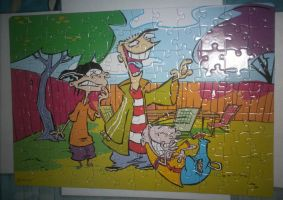 My Ed, Edd n Eddy finished puzzle by Edness-Madness