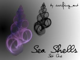 Seashell Brushes by surfing-ant